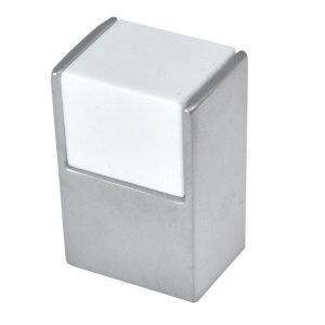 pomos cromo mate y metacrilato blanco cube mueble 0048020v0111