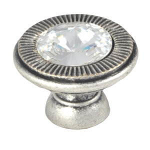 swarovski knob matt silver furniture handle 10083sw