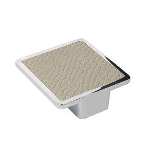 tirador asa cuadrada polipiel serpiente beige mate herrajes mueble diseño moderno n121
