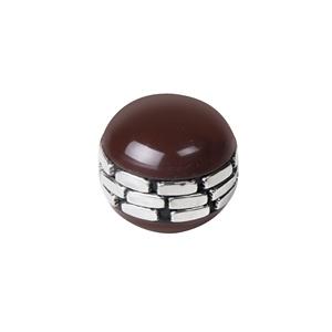 pomo resina con incrustaciones de metal plata tirador etnico mueble arabesque 1062ma
