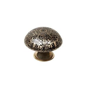 pomo laton decorado tirador etnico mueble arabesque 1065a