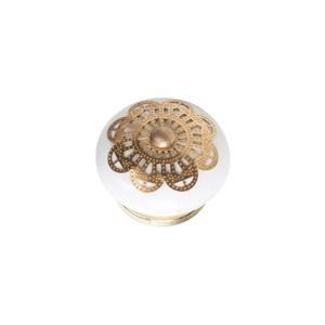 knob ceramic with brass fitting arabesque furniture handle porcelain tienda precio venta online 1066lt