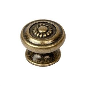 tirador pomo de mueble metal zamak acabado cuero viejo para cocina o bano 10718
