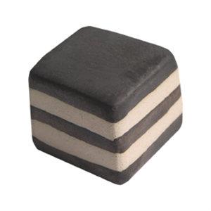 pomo tirador rayas con frontal negro ceramica artesanal 20x20mm 127b1