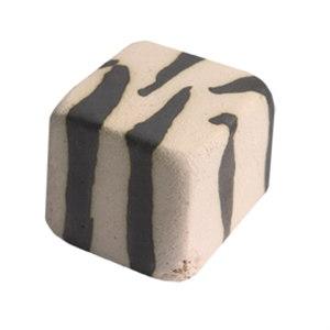 pomo tirador cebra ceramica artesanal 20x20mm 127b3