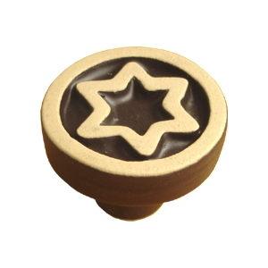 matt ceramic wengue colour 35mm furniture knob 134a1