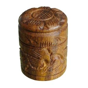 carved handle knob teac wood 143a2