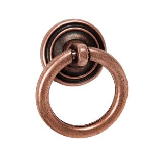 tirador anilla cobre viejo cajon mueble clasico ap120