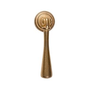 tirador pendulo oro inca herrajes mueble clasico 62x20mm pendule or inca porte meuble classique 62x20mm