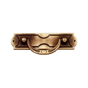 tiradores asa con placa metal bronce cajon mueble clasico 57 2366c