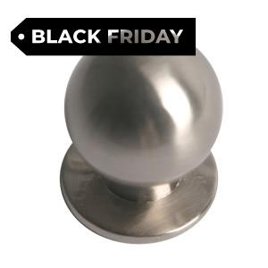 brush nickel furniture handle knob 165 24516