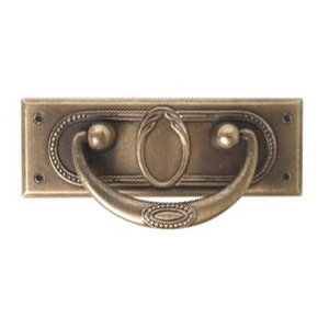 tiradores herrajes asa metal bronce puerta mueble clasico 2453c