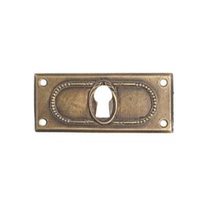 escudo bocallave metal plata vieja puerta mueble clasico 13 2462c