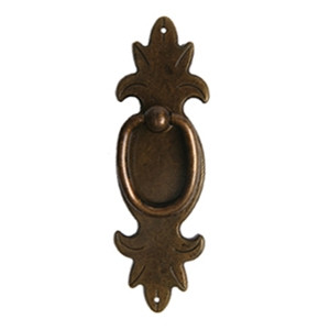 antique bronze vertical ring rustic furniture handle 2720c