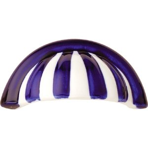 shell handle porcelain blue stripes 302j1