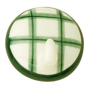 percha colgador adhesiva porcelana pintada a mano cuadros verdes 305m7
