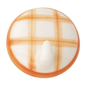 percha colgador adhesiva porcelana pintada a mano cuadros naranja 305m8