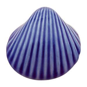 poignee bouton coquillage bleu meuble porcelaine classique 318m1