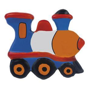 tirador pomo de mueble tren ceramica pintada a mano para cajonera y armario 346tr