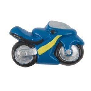pomos tiradores moto azul ceramica mate mueble infantiles ninos 355az