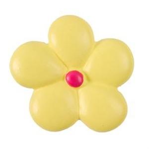 pomos tiradores flor amarilla ceramica mate mueble infantiles ninos 358am