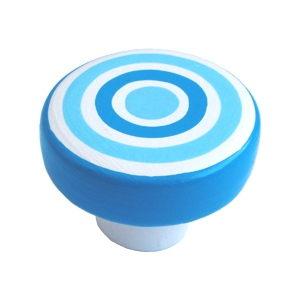 pomos tiradores circulos azules porcelana mate mueble infantiles ninos 359az