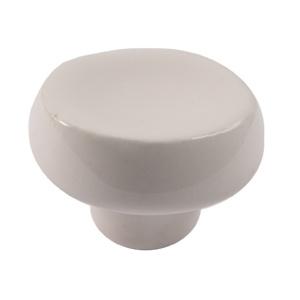 pomos tiradores redondo de ceramica crema marfil mate mueble 375mf