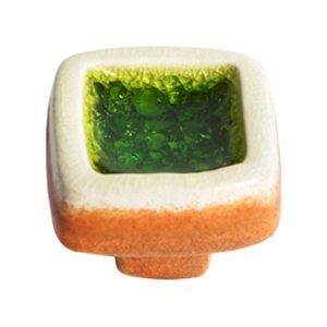 pomo tirador ceramica con cristal esmeralda 377es