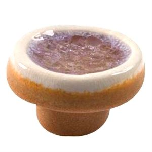 pomo tirador de ceramica con cristal amatista 37x33mm 378at