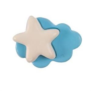 pomos tiradores nube y estrella de ceramica mate mueble bebes 494 379a1