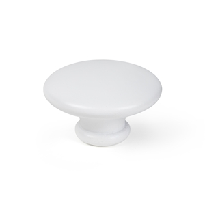cabinet drawer knob 44mm beech lacquered white bouton meuble bois 44mm laque blanc