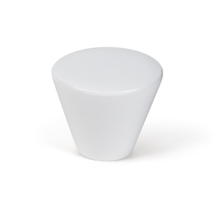 cabinet drawer knob conical 40mm beech lacquered white bouton meuble bois conique 40mm laque blanc