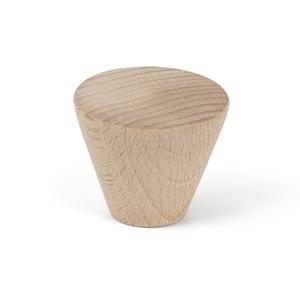 pomo cajon mueble conico 40mm haya crudo bouton meuble bois conique 40mm hetre cru