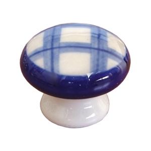 pomos tiradores porcelana cuadros azules mueble 423m6