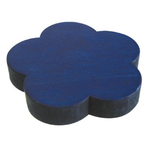 blue flower knob dyed wood kids children furniture handle 424az