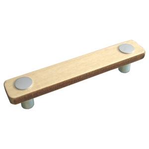 tiradores asa de madera haya laca incolora cromo puerta de mueble 428hn