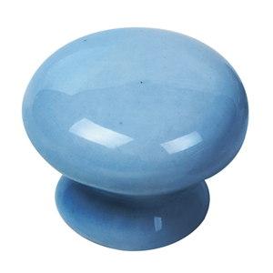pomo porcelana azul tiradore mueble ceramica artesanal 428m1