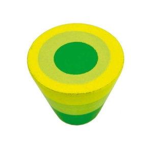 tirador pomo de mueble circulos verde madera pintada a mano para armario cocina 432ve