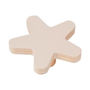 pomo mueble bebe estrella 67mm madera abedul pintura arena bouton etoile 67mm bois de bouleau laque sable pour meuble de bebe