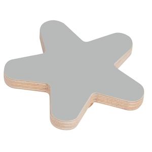 pomo mueble bebe estrella 95mm madera abedul pintura gris bouton etoile 95mm bois de bouleau laque gris pour meuble de bebe