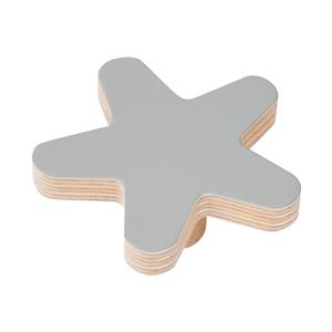 pomo mueble bebe estrella 67mm madera abedul pintura gris bouton etoile 67mm bois de bouleau laque gris pour meuble de bebe