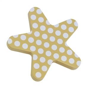 pomos tiradores estrella madera lacada beige puntos mueble bebes 440pb