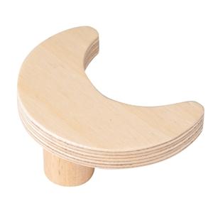 pomo mueble bebe luna 66mm madera abedul natural bouton lune 66mm bois de bouleau laque naturel pour meuble de bebe