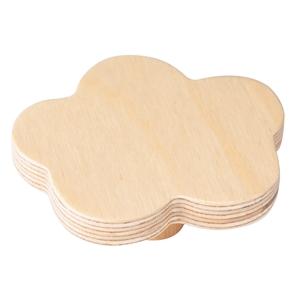 pomo mueble bebenube95mmmaderaabedul natural bouton nuage 100mm bois de bouleau laque naturel pour meuble de bebe