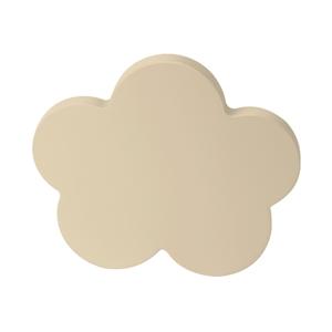 pomos tirador nube mueble bebe madera lacada beige claro o arena 95mm