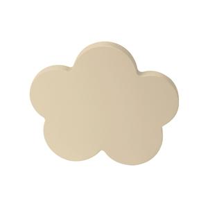 pomos tirador nube mueble bebe madera lacada beige claro o arena 68mm