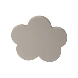 pomos tirador nube mueble bebe madera lacada gris 68mm