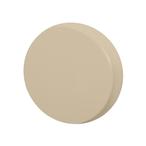 pomos tirador redondo mueble bebe madera lacada beige claro o arena 80mm