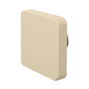 pomos tirador cuadrado mueble bebe madera lacada beige claro o arena 72mm
