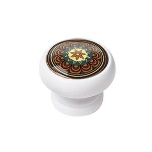 bouton meuble vintage bois blanc arabesque 2 450bl08